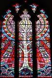 Träd av livmålat glassfönstret royaltyfri foto