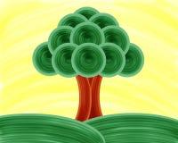 Träd av livmålning Royaltyfria Foton