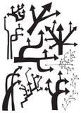 Träd av pilar (vektoruppsättningen) Arkivfoto