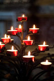 Träd av röda stearinljus Royaltyfri Foto
