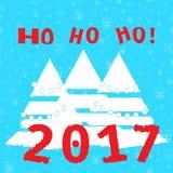 TRÄD bakgrund 2017 royaltyfri illustrationer