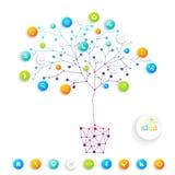 Träd för affärsplan med stället för din text och Arkivbild