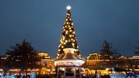 Träd för Disney landParis xmas Arkivbild