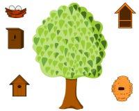 Träd för fåglar Arkivfoton