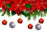Träd för julgarneringevergreen Arkivbilder