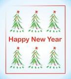 Träd för nytt år med stjärnan Arkivfoto