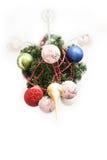 Träd för nytt år på tak Ovanlig ferie härligt mycket Royaltyfria Bilder
