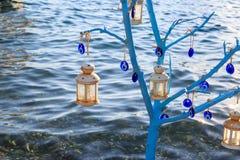 Träd för ont öga inom havet i sogut, marmaris royaltyfria foton