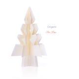 Träd för origamijulgran Arkivbilder