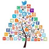 Träd för rengöringsduksymbolsjul Royaltyfria Bilder