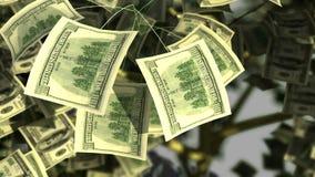 Träd för roliga pengar stock illustrationer