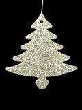 Träd för Silverl X `-mas Garneringdesign för julparti Fotografering för Bildbyråer
