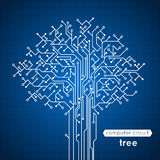 Träd för strömkretsbräde vektor illustrationer