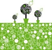 Träd för vektorillustrationäpple Royaltyfri Bild