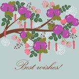 Träd i bloosom royaltyfri illustrationer