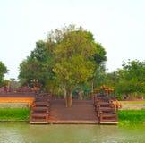 Träd i mitt av bron Arkivbild