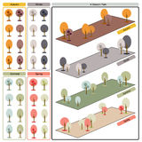 Träd i 4 säsonger stock illustrationer