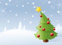 Träd i snön royaltyfri illustrationer