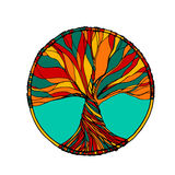 Träd i vektor royaltyfri bild