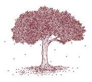 Träd i zentanglestil Royaltyfri Bild