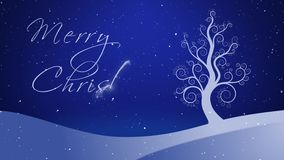 Träd 4K för vinter för glad jul vitt växande royaltyfri illustrationer