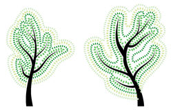 Träd med abstrakt begreppgräsplansidor Royaltyfri Bild