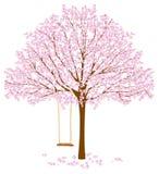 Träd med blomningar Arkivfoto