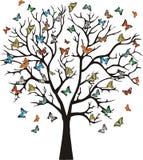 Träd med fjärilar Royaltyfri Fotografi