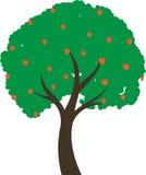 Träd med frukter stock illustrationer