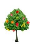Träd med frukter som isoleras på en vit bakgrund Royaltyfria Foton