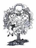 Träd med gåvor Arkivfoton