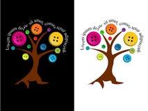 Träd med knappar och redigerbar text Royaltyfri Foto