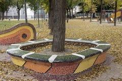 Träd med platser Arkivbild