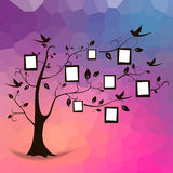 Träd och foto vektor illustrationer