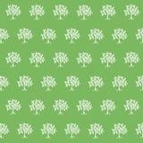 Träd på en grön bakgrund vektor illustrationer