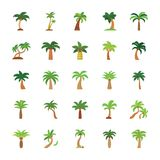 Träd sänker symbolsuppsättningen vektor illustrationer