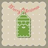 Träd Toy With framsidan av Santa Claus Arkivfoto