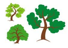 Trädclipart vektor illustrationer
