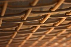 trädekorativt staket Arkivbild