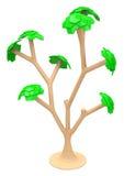 Trädet 3d Arkivfoto