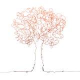 Trädfärg på vit Arkivfoton