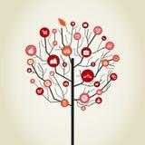 Trädförsäljning stock illustrationer