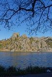 Trädfilial över Sylvan Lake arkivfoton
