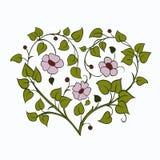 Trädfilial i formen av en hjärta stock illustrationer
