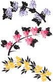 Trädfilialer med blommor Royaltyfri Fotografi