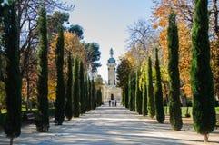 Trädfootwalk Madrid Spanien Royaltyfri Bild
