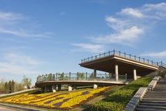trädgård över plattformen Arkivbild