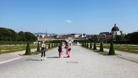 Trädgård av övrebelvederen arkivfoto
