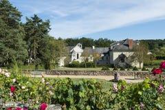 Trädgård av abbotskloster Fontevraud Arkivfoton