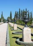 Trädgård av den Bahai världsmitten acquittancen arkivbild